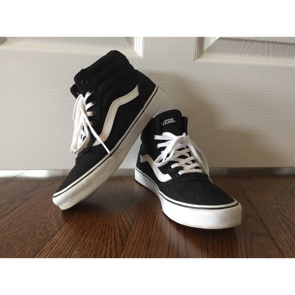 Vans Shoes - Vans Ward High-Top Sneakers (Sk8-Hi) Black Canvas 0e0d5d4f8